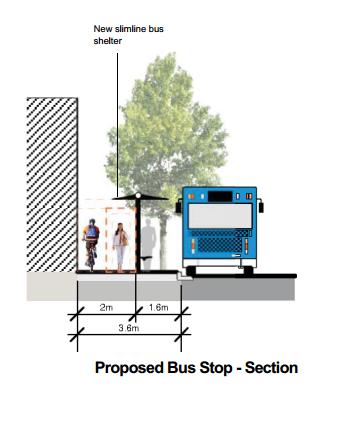 Waterloo Link Proposed Slim Line Bus Stops