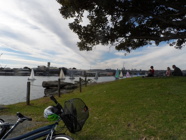 Riding encourages me to visit Sydney's harbour foreshore more than I would otherwise