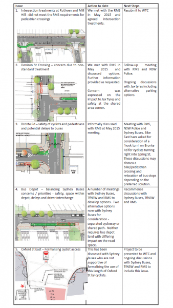 The Issues of contention about the Spring St Cycleway